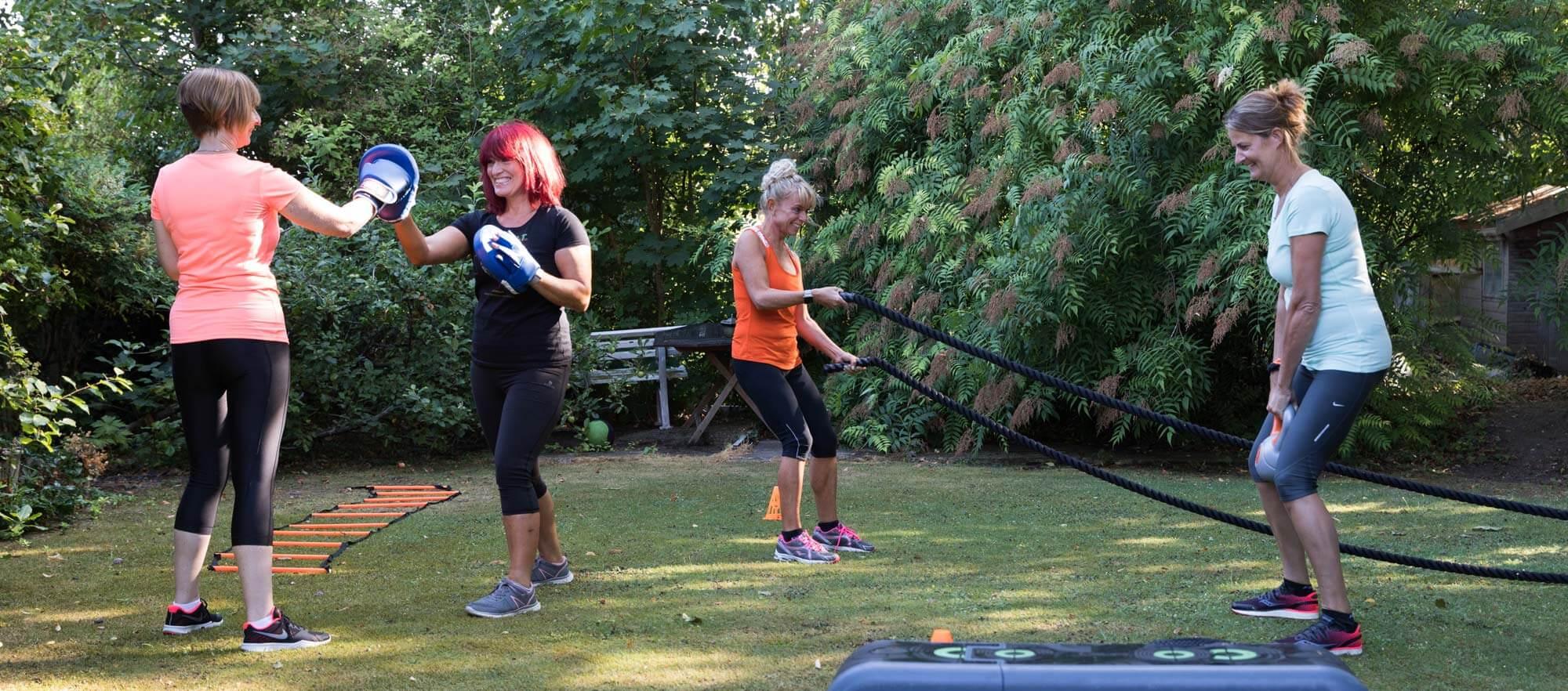 group fitness training for women